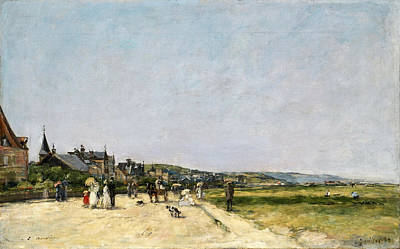 Eugene Boudin Painting - Deauville The Terrace by Eugene Boudin