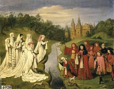 Debacq, Charles Alexandre 1804-1850 Print by Everett