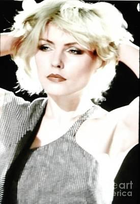 Blondie Digital Art - Deborah Harry Blondie Lead Singer by Marsha Heiken