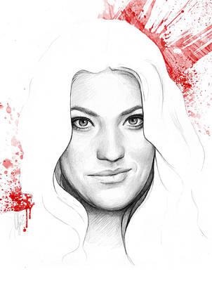Debra Morgan Portrait - Dexter Print by Olga Shvartsur