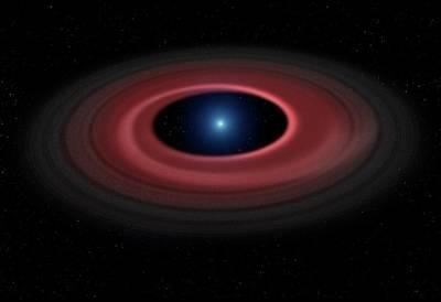 Disc Photograph - Debris Ring Around A White Dwarf Star by Mark Garlick