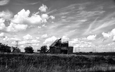 Rural Decay Mixed Media - Decaying Illinois Barn Black And White by Thomas Woolworth
