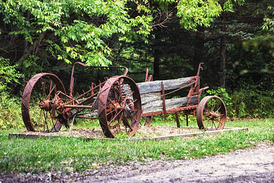 Decaying Wagon Print by Thomas Woolworth