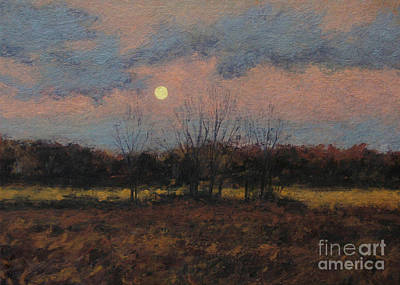 December Moon Print by Gregory Arnett