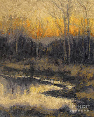 Painting - December Reflection by Gregory Arnett