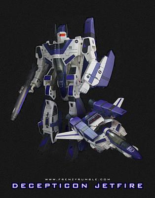 Gnaw Mixed Media - Decepticon Jetfire by Frenzyrumble