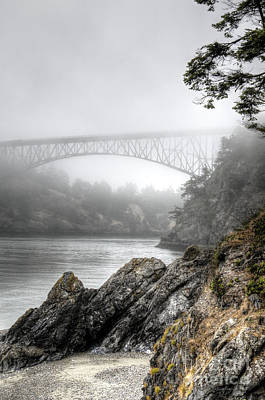 Juan De Fuca Photograph - Deception Pass Bridge by Sarah Schroder