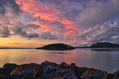 Juan De Fuca Photograph - Deception Pass Sunset by Dan Mihai