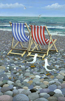 Deck Chairs Print by Peter Adderley