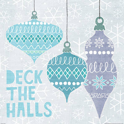 Deck The Halls IIi Print by Moira Hershey