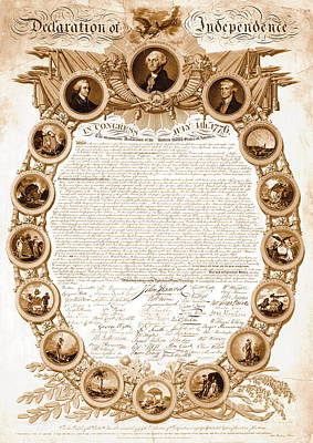 Declaration Of Independence 1818 Print by Padre Art
