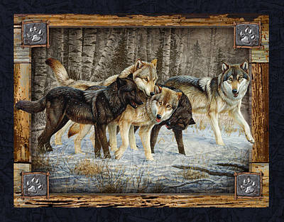 Wolf Painting - Deco Wolves by JQ Licensing