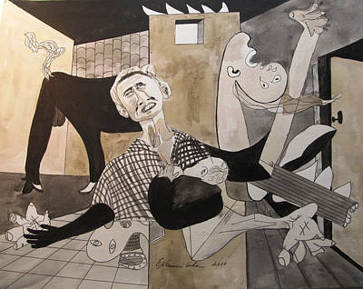 Deconstructed Painting - Deconstructing Picasso - La Agonia Espanola by Esther Newman-Cohen
