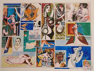 Deconstructed Painting - Deconstructing Picasso - Seduction And Rage by Esther Newman-Cohen