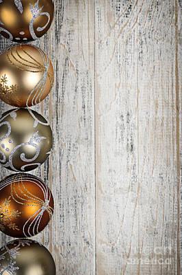 Decorated Christmas Ornaments Print by Elena Elisseeva