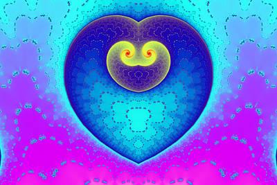 Eggleston Digital Art - Decorated Heart by Mark Eggleston