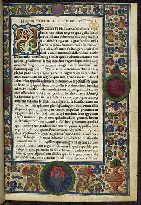 Decorated Page Print by British Library