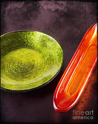 Glass Table Reflection Mixed Media - Decoration Plate With Small Glassy Boat by Mohamed Elkhamisy