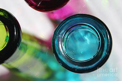 Glass Art Photograph - Decorative Bottles II by Krissy Katsimbras