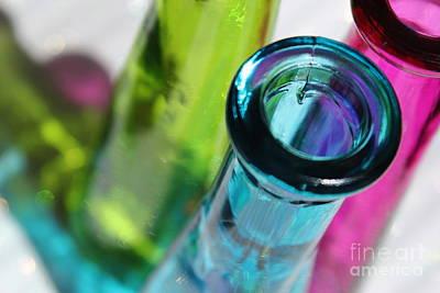 Glass Art Photograph - Decorative Bottles Iv by Krissy Katsimbras