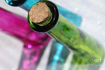 Glass Art Photograph - Decorative Bottles by Krissy Katsimbras