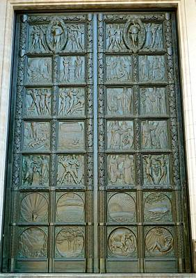 Brass Etching Photograph - Decorative Door Panel  by Kenneth Summers