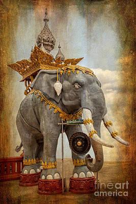 Signed Digital Art - Decorative Elephant by Adrian Evans