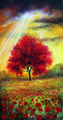 Poppies Painting - Dedication by Ann Marie Bone