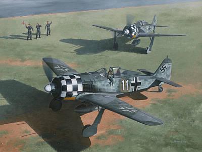 Aviator Painting - Deelen Wolves by Wade Meyers