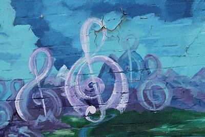 Deep Ellum Means Music Print by Lorri Crossno