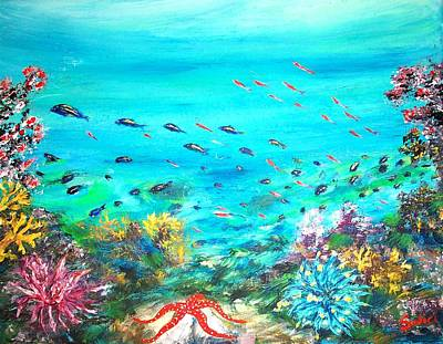 Painting - Deep End Of The Sea by Mary Sedici