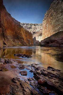 Grand Canyon Digital Art - Deep Inside The Grand Canyon by Ellen Heaverlo