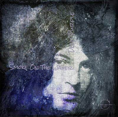 Gillian Digital Art - Deep Purple - Smoke On The Water by Absinthe Art By Michelle LeAnn Scott