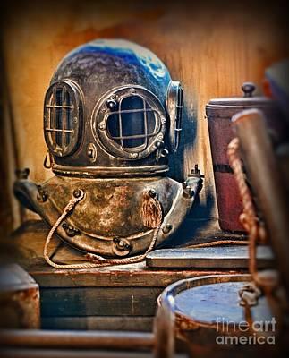 Diving Helmet Photograph - Deep Sea Diver by Paul Ward