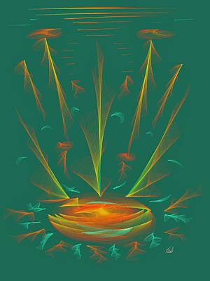 Deep Space Art Painting - Deep Sea Wonder by Angela A Stanton