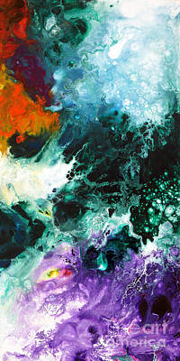 Tangerine Painting - Deep Space Canvas Two by Sally Trace