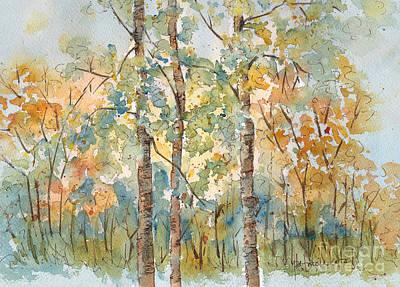 Sepia Ink Painting - Deep Woods Waskesiu by Pat Katz