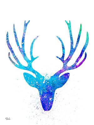Deer Silhouette Painting - Deer 2 by Slaveika Aladjova