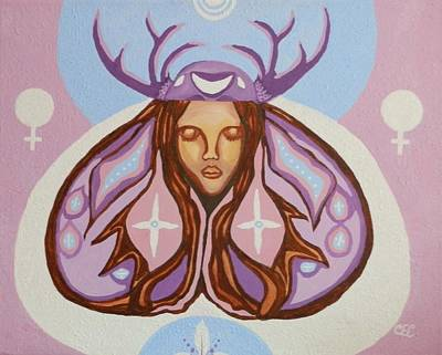 Native American Symbols Painting - Deer Woman by Carolyn Cable