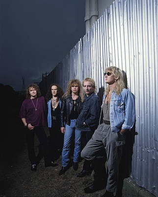 Singer Photograph - Def Leppard - Adrenalize Me 1992 by Epic Rights