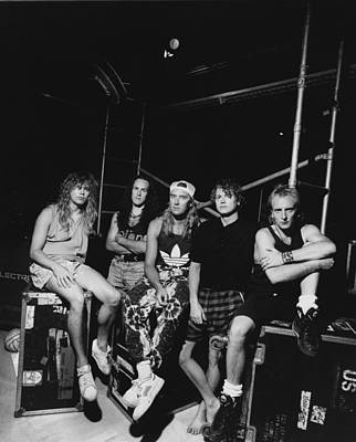 Def Leppard - Adrenalize Tour B&w 1992 Print by Epic Rights