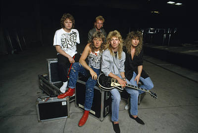 Def Leppard Photograph - Def Leppard - Equipment & Gear 1987 by Epic Rights