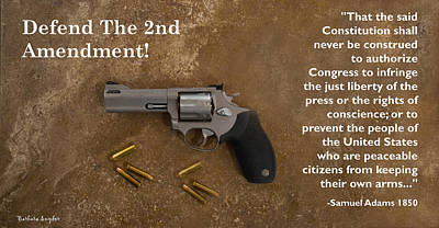 Cartridge Digital Art - Defedn The Second Amendment by Barbara Snyder