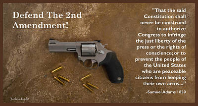 Cartridge Digital Art - Defend The Second Amendment by Barbara Snyder