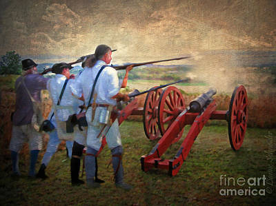 Defending Bemis Heights 1777 Print by Lianne Schneider