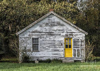 Screen Doors Photograph - Defiant Yellow Door by Terry Rowe