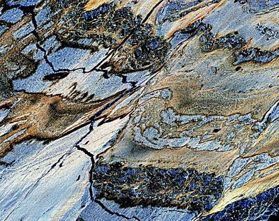 Deformations In Serpentinite Print by Dirk Wiersma