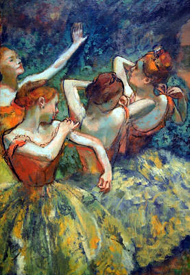 Of Edgar Degas Photograph - Degas' Four Dancers Up Close by Cora Wandel