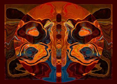 Deities Abstract Digital Artwork Print by Omaste Witkowski