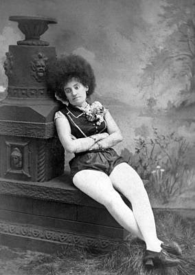 1880 Photograph - Dejected Vaudeville Performer by Underwood Archives